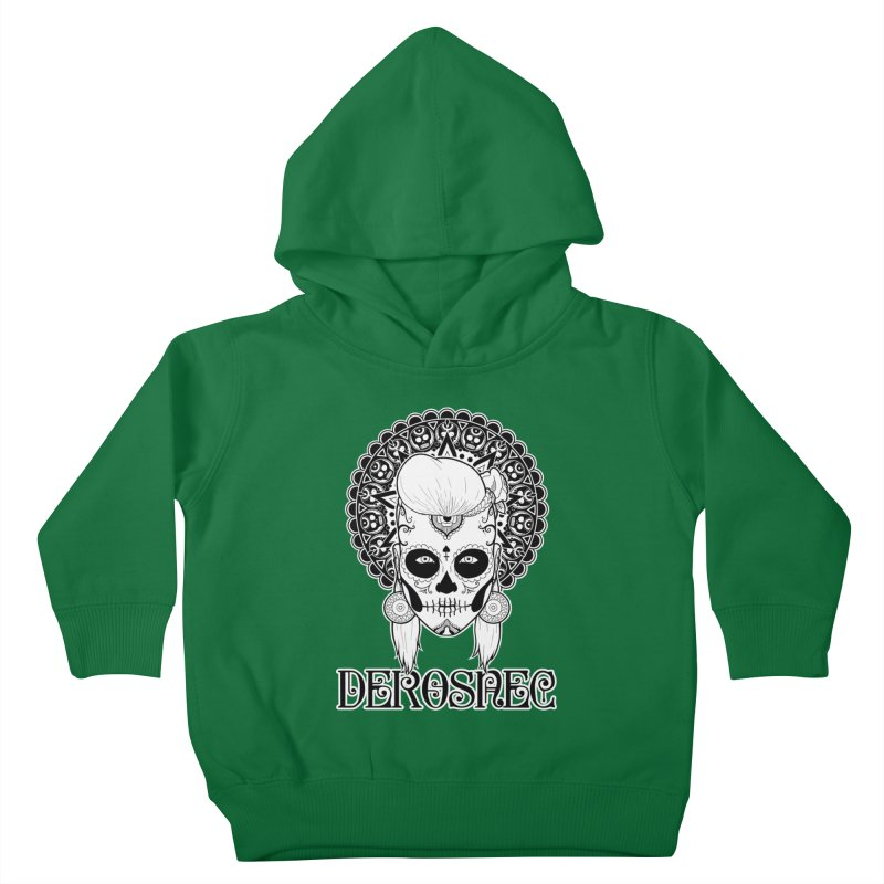DEROSNEC - Bed of Roses, Muerta (BW) Kids Toddler Pullover Hoody by Oh Just Peachy Studios Music Store