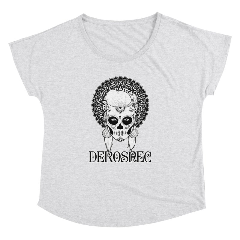 DEROSNEC - Bed of Roses, Muerta (BW) Women's Dolman by Oh Just Peachy Studios Music Store