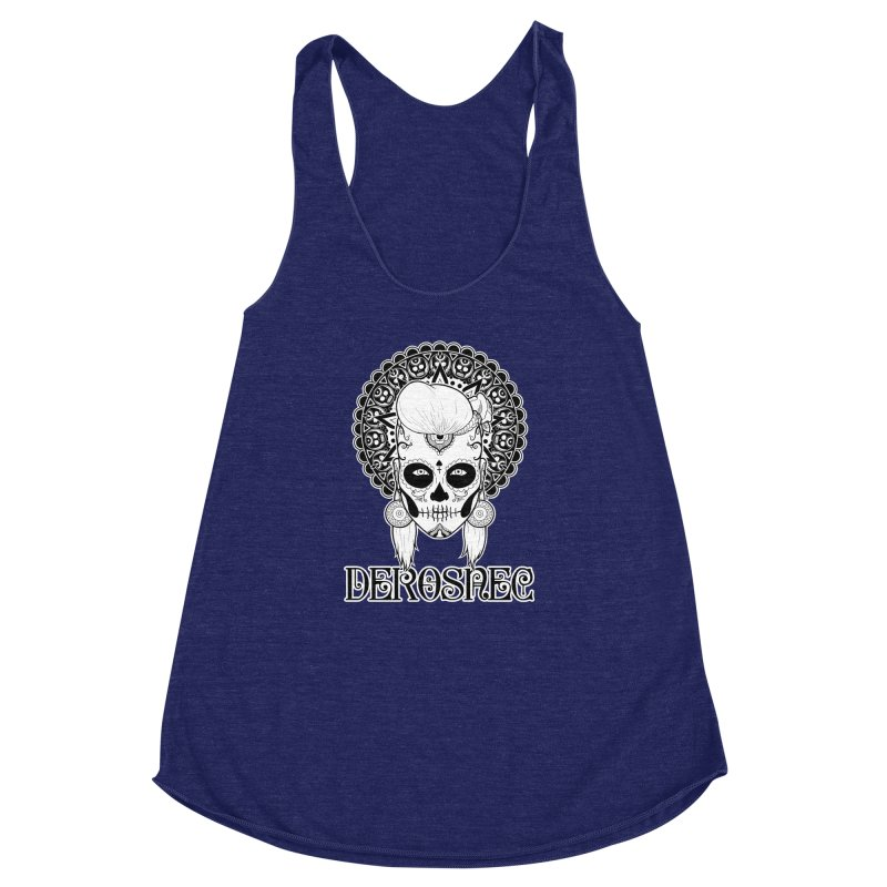 DEROSNEC - Bed of Roses, Muerta (BW) Women's Racerback Triblend Tank by Oh Just Peachy Studios Music Store