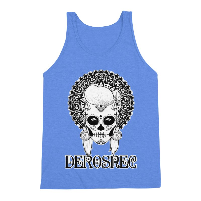 DEROSNEC - Bed of Roses, Muerta (BW) Men's Triblend Tank by Oh Just Peachy Studios Music Store