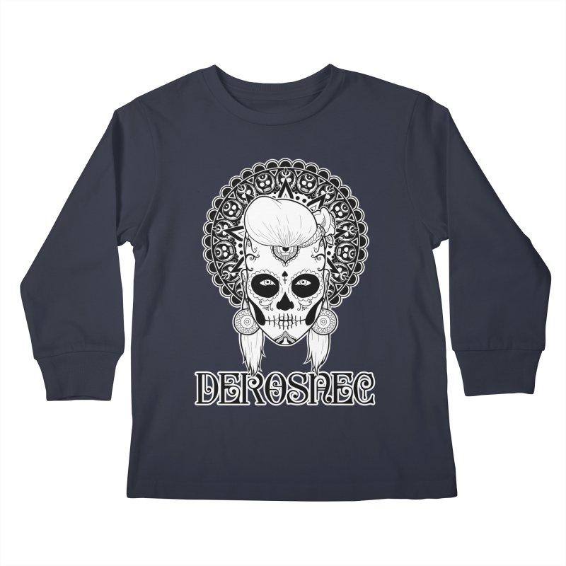 DEROSNEC - Bed of Roses, Muerta (BW) Kids Longsleeve T-Shirt by Oh Just Peachy Studios Music Store
