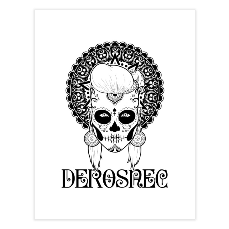 DEROSNEC - Bed of Roses, Muerta (BW) Home Fine Art Print by Oh Just Peachy Studios Music Store