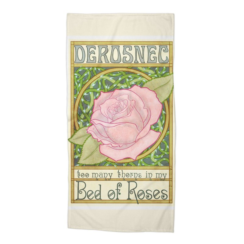 DEROSNEC - Bed of Roses (Color) Accessories Beach Towel by Oh Just Peachy Studios Music Store