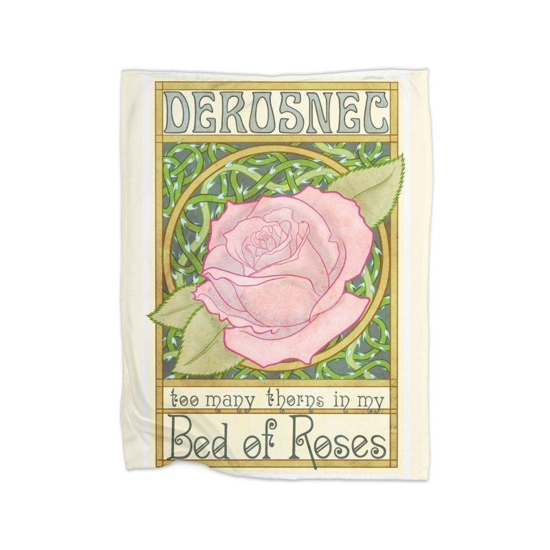 DEROSNEC - Bed of Roses (Color) Home Fleece Blanket Blanket by Oh Just Peachy Studios Music Store