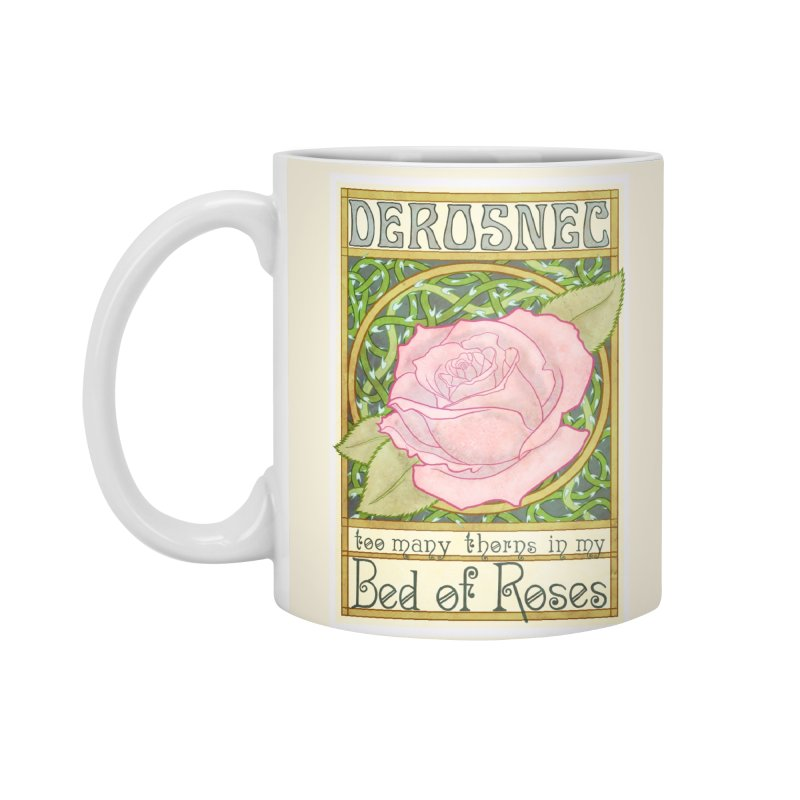DEROSNEC - Bed of Roses (Color) Accessories Mug by Oh Just Peachy Studios Music Store