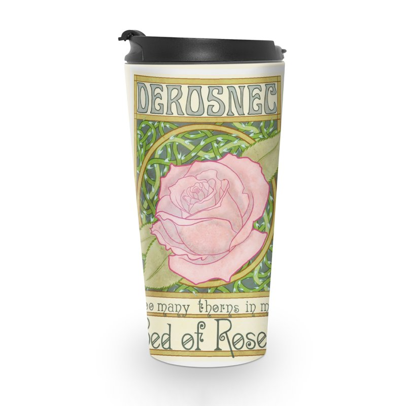 DEROSNEC - Bed of Roses (Color) Accessories Travel Mug by Oh Just Peachy Studios Music Store