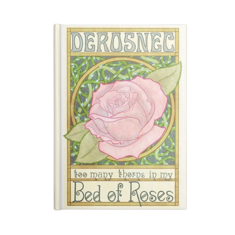 DEROSNEC - Bed of Roses (Color) Accessories Blank Journal Notebook by Oh Just Peachy Studios Music Store