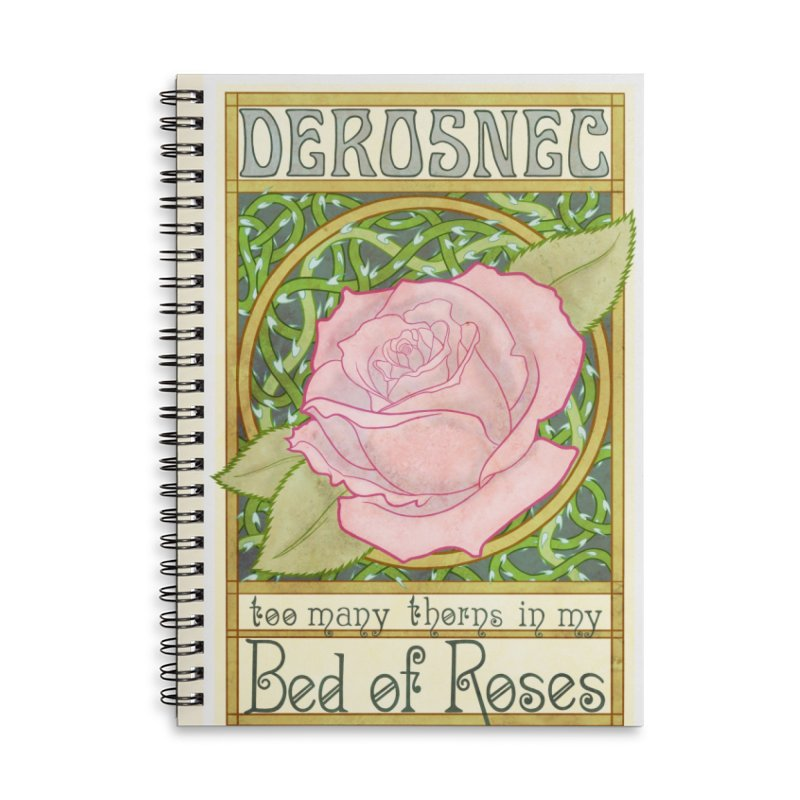 DEROSNEC - Bed of Roses (Color) Accessories Lined Spiral Notebook by Oh Just Peachy Studios Music Store
