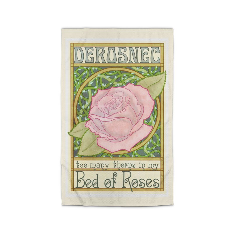 DEROSNEC - Bed of Roses (Color) Home Rug by Oh Just Peachy Studios Music Store
