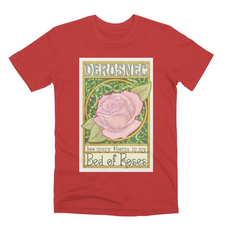 DEROSNEC - Bed of Roses (Color) Men's Premium T-Shirt by Oh Just Peachy Studios Music Store