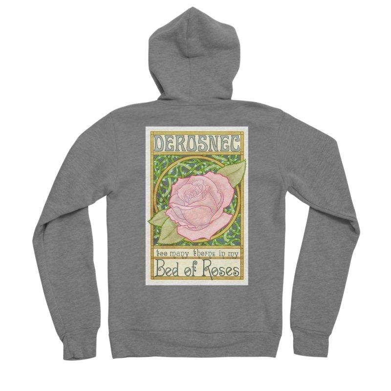 DEROSNEC - Bed of Roses (Color) Women's Sponge Fleece Zip-Up Hoody by Oh Just Peachy Studios Music Store