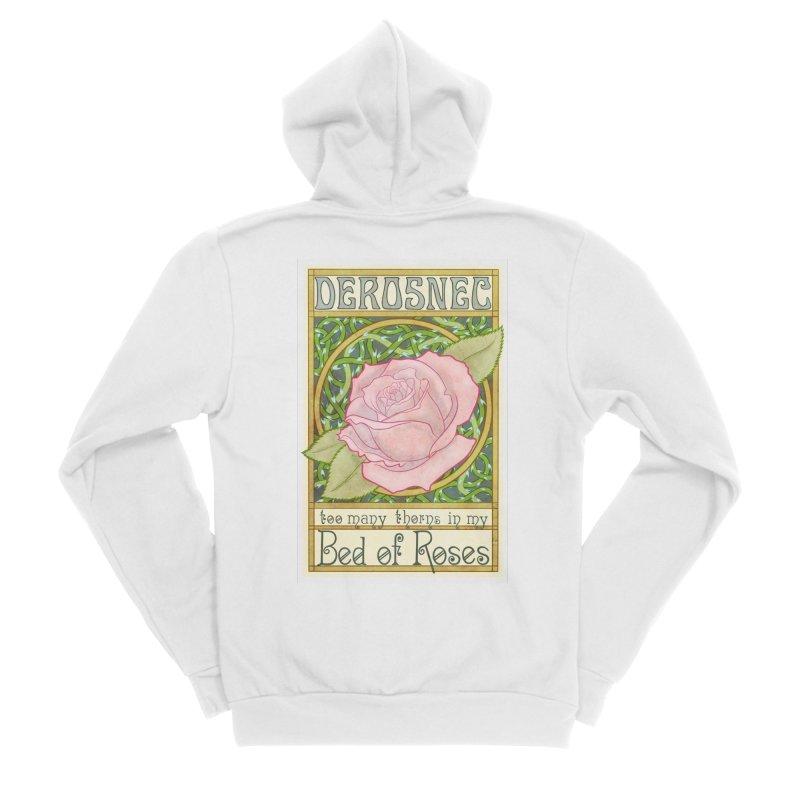 DEROSNEC - Bed of Roses (Color) Men's Sponge Fleece Zip-Up Hoody by Oh Just Peachy Studios Music Store