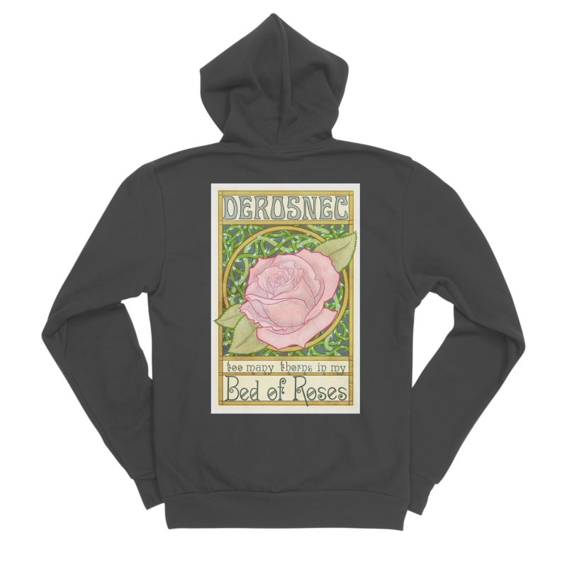 DEROSNEC - Bed of Roses (Color) Women's Sponge Fleece Zip-Up Hoody by Oh Just Peachy Studios Music Store