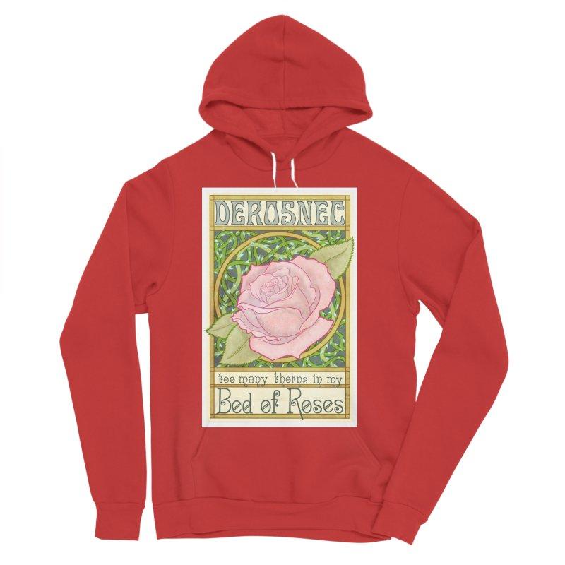 DEROSNEC - Bed of Roses (Color) Men's Sponge Fleece Pullover Hoody by Oh Just Peachy Studios Music Store