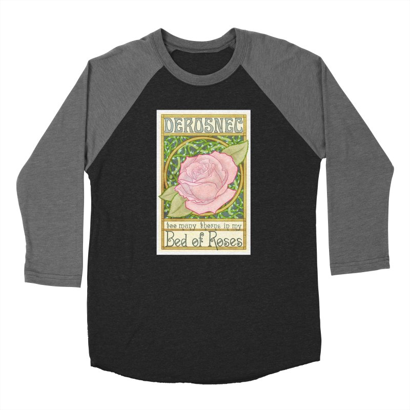 DEROSNEC - Bed of Roses (Color) Men's Baseball Triblend Longsleeve T-Shirt by Oh Just Peachy Studios Music Store
