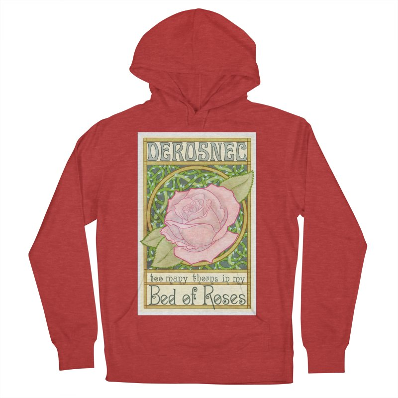 DEROSNEC - Bed of Roses (Color) Men's French Terry Pullover Hoody by Oh Just Peachy Studios Music Store