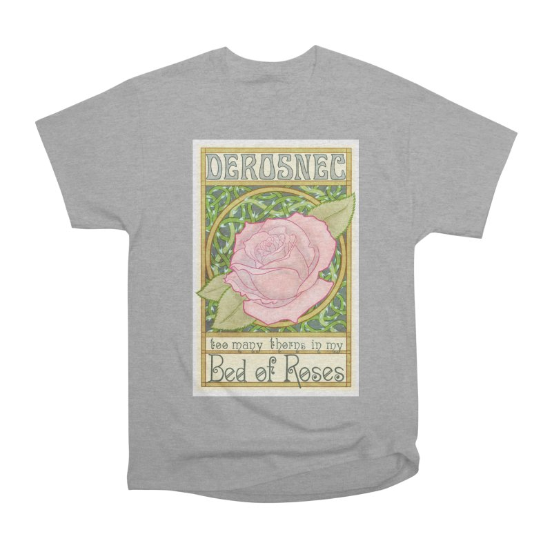 DEROSNEC - Bed of Roses (Color) Men's Heavyweight T-Shirt by Oh Just Peachy Studios Music Store