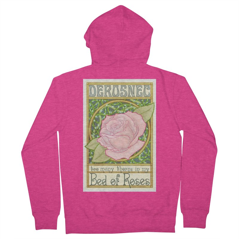 DEROSNEC - Bed of Roses (Color) Women's French Terry Zip-Up Hoody by Oh Just Peachy Studios Music Store