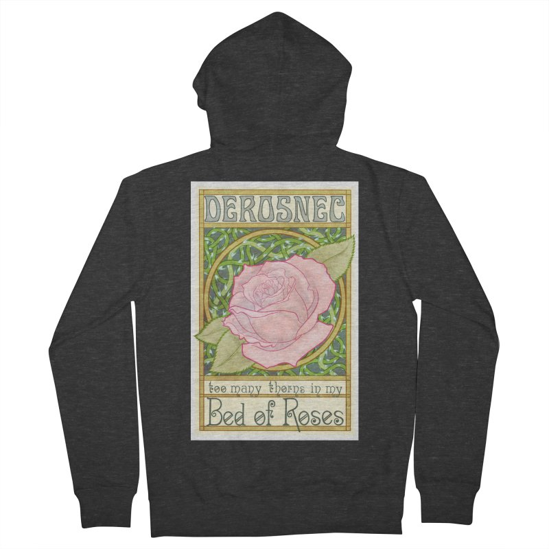 DEROSNEC - Bed of Roses (Color) Men's French Terry Zip-Up Hoody by Oh Just Peachy Studios Music Store