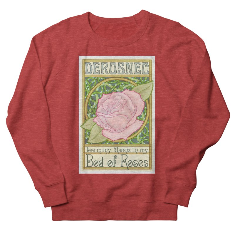 DEROSNEC - Bed of Roses (Color) Men's French Terry Sweatshirt by Oh Just Peachy Studios Music Store