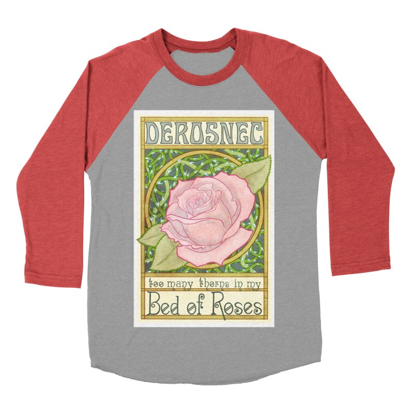 DEROSNEC - Bed of Roses (Color) Women's Baseball Triblend T-Shirt by Oh Just Peachy Studios Music Store