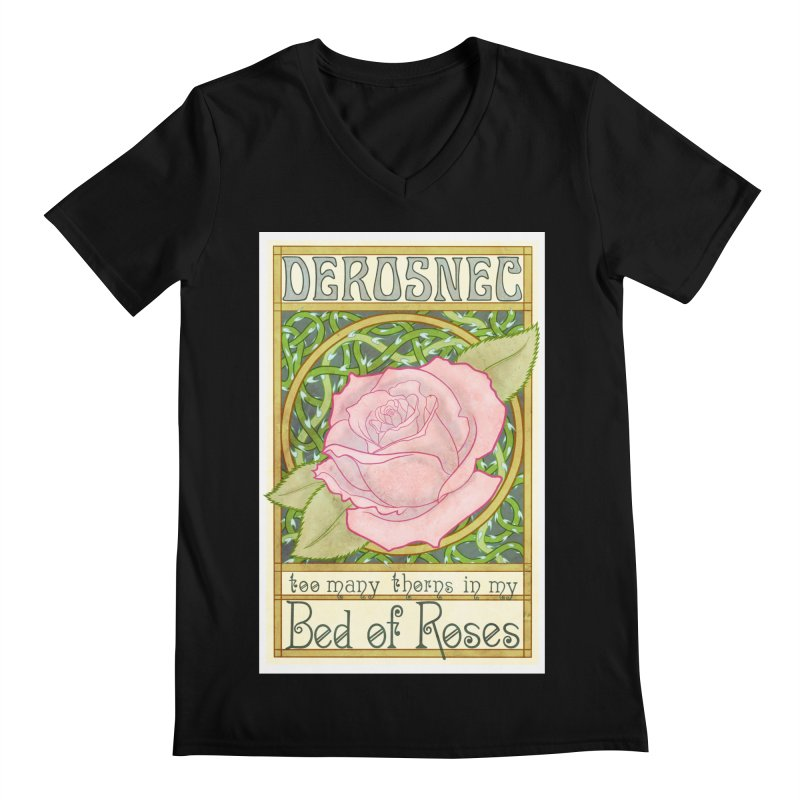 DEROSNEC - Bed of Roses (Color) Men's Regular V-Neck by Oh Just Peachy Studios Music Store