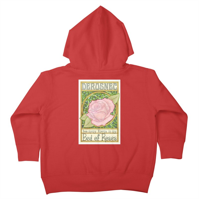 DEROSNEC - Bed of Roses (Color) Kids Toddler Zip-Up Hoody by Oh Just Peachy Studios Music Store