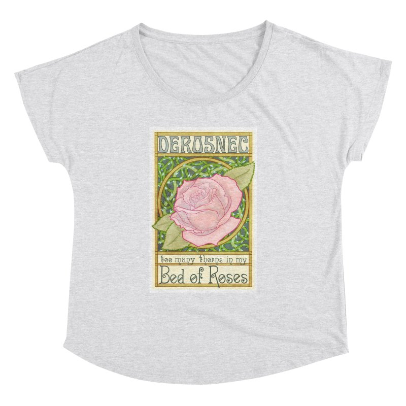 DEROSNEC - Bed of Roses (Color) Women's Dolman Scoop Neck by Oh Just Peachy Studios Music Store