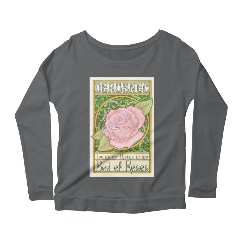 DEROSNEC - Bed of Roses (Color) Women's Scoop Neck Longsleeve T-Shirt by Oh Just Peachy Studios Music Store