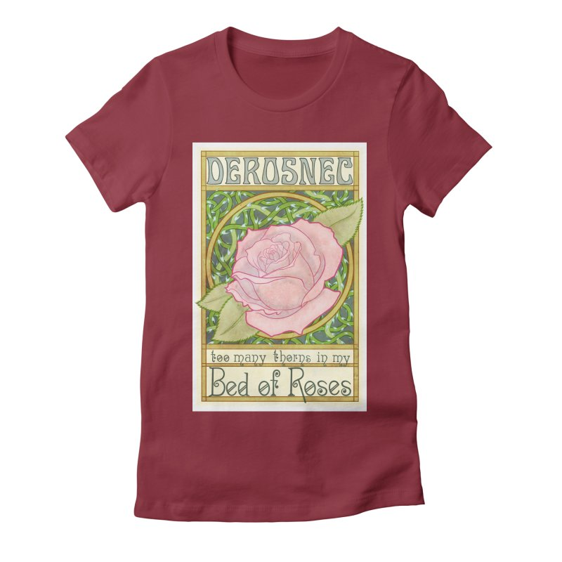 DEROSNEC - Bed of Roses (Color) Women's Fitted T-Shirt by Oh Just Peachy Studios Music Store
