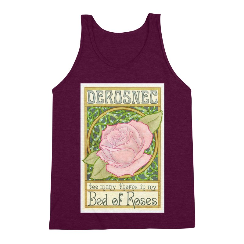DEROSNEC - Bed of Roses (Color) Men's Triblend Tank by Oh Just Peachy Studios Music Store