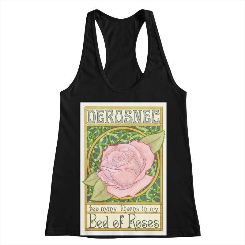 DEROSNEC - Bed of Roses (Color) Women's Racerback Tank by Oh Just Peachy Studios Music Store