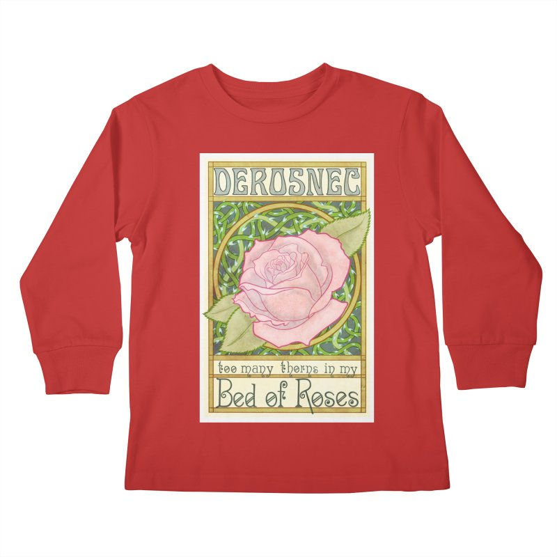 DEROSNEC - Bed of Roses (Color) Kids Longsleeve T-Shirt by Oh Just Peachy Studios Music Store