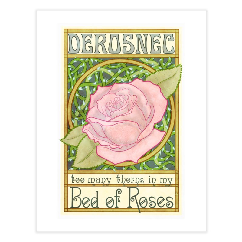 DEROSNEC - Bed of Roses (Color) Home Fine Art Print by Oh Just Peachy Studios Music Store