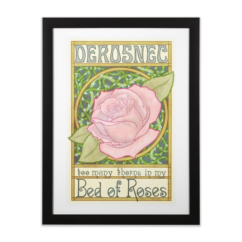 DEROSNEC - Bed of Roses (Color) Home Framed Fine Art Print by Oh Just Peachy Studios Music Store