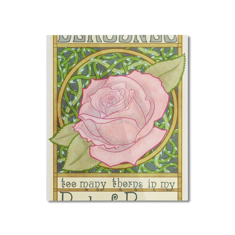 DEROSNEC - Bed of Roses (Color) Home Mounted Aluminum Print by Oh Just Peachy Studios Music Store