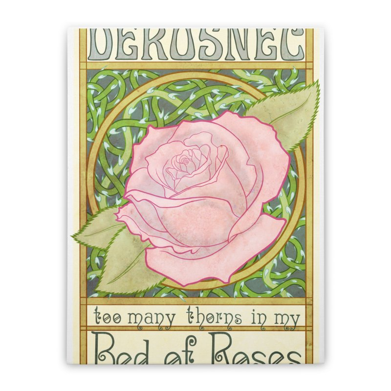 DEROSNEC - Bed of Roses (Color) Home Stretched Canvas by Oh Just Peachy Studios Music Store