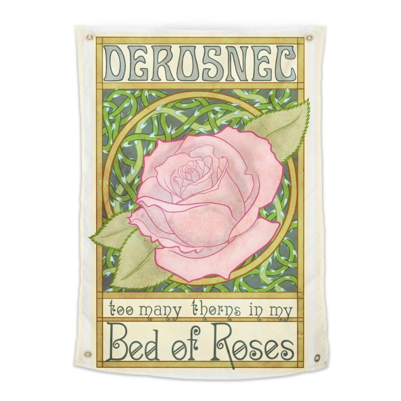 DEROSNEC - Bed of Roses (Color) Home Tapestry by Oh Just Peachy Studios Music Store