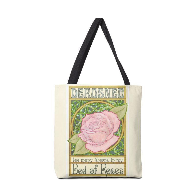 DEROSNEC - Bed of Roses (Color) Accessories Tote Bag Bag by Oh Just Peachy Studios Music Store