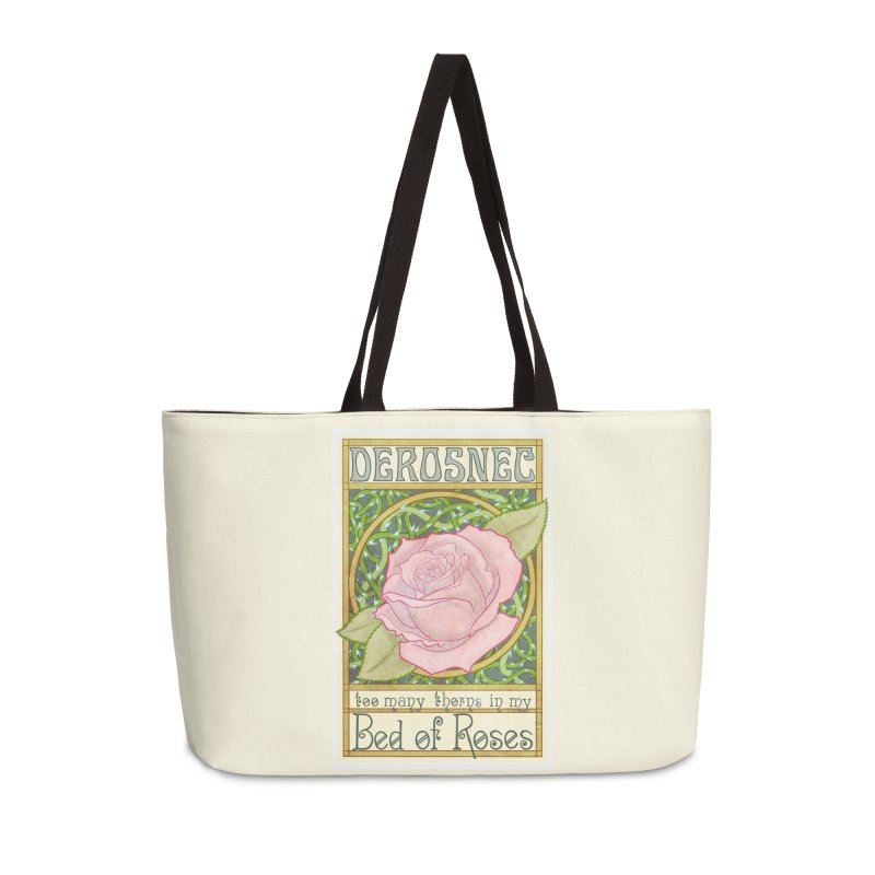 DEROSNEC - Bed of Roses (Color) Accessories Weekender Bag Bag by Oh Just Peachy Studios Music Store