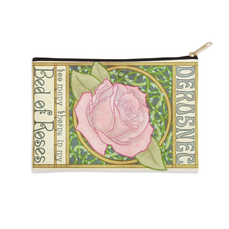 DEROSNEC - Bed of Roses (Color) Accessories Zip Pouch by Oh Just Peachy Studios Music Store