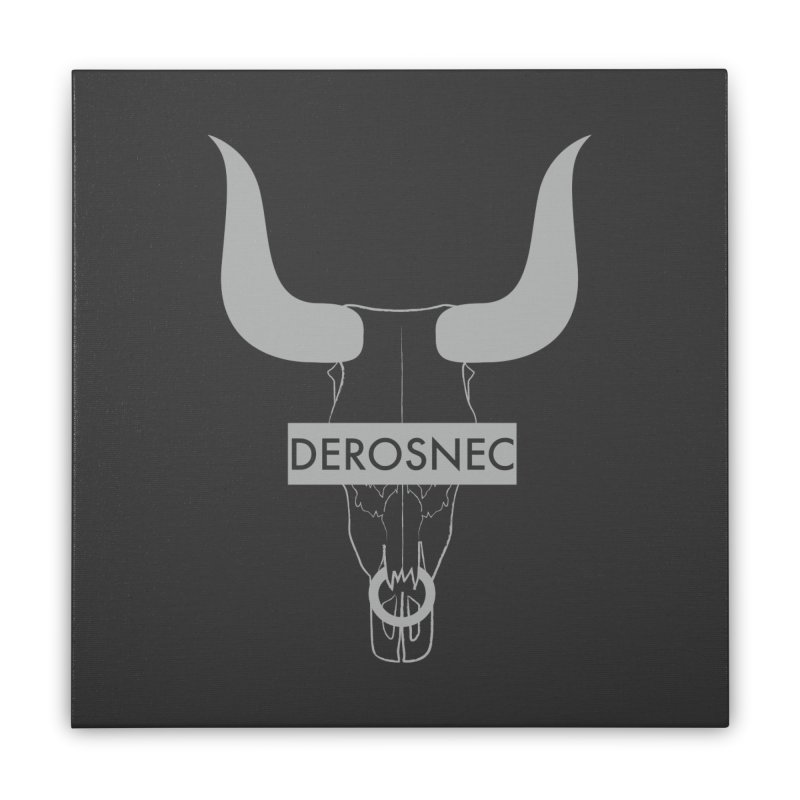 DEROSNEC - Bullheaded Home Stretched Canvas by Oh Just Peachy Studios Music Store