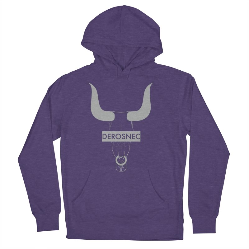 DEROSNEC - Bullheaded Women's French Terry Pullover Hoody by Oh Just Peachy Studios Music Store