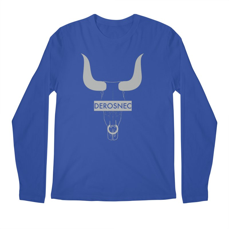 DEROSNEC - Bullheaded Men's Regular Longsleeve T-Shirt by Oh Just Peachy Studios Music Store