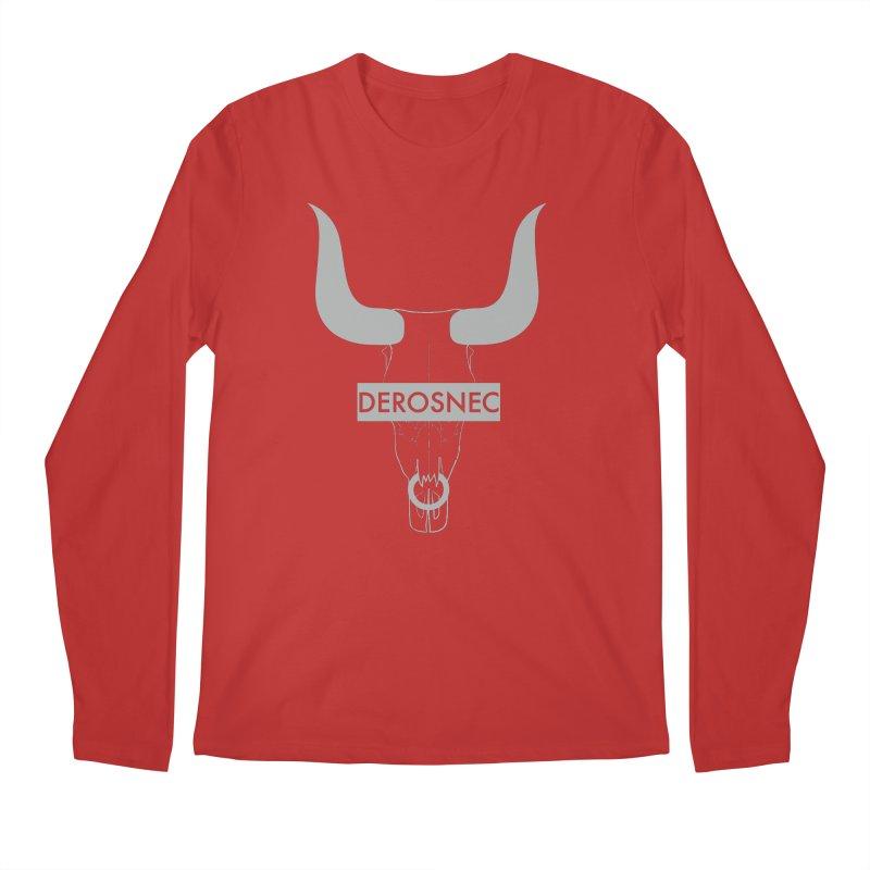 DEROSNEC - Bullheaded Men's Regular Longsleeve T-Shirt by Oh Just Peachy Studios Music Store