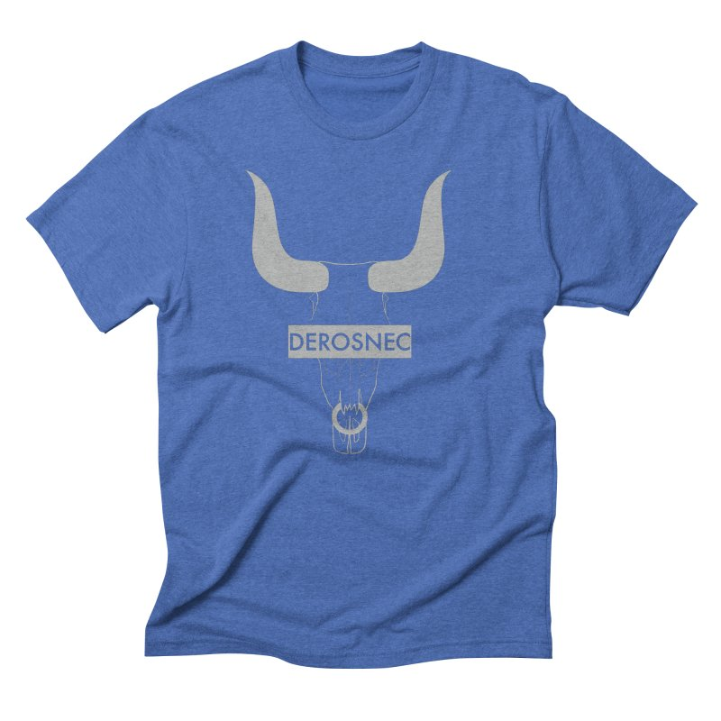 DEROSNEC - Bullheaded Men's Triblend T-Shirt by Oh Just Peachy Studios Music Store