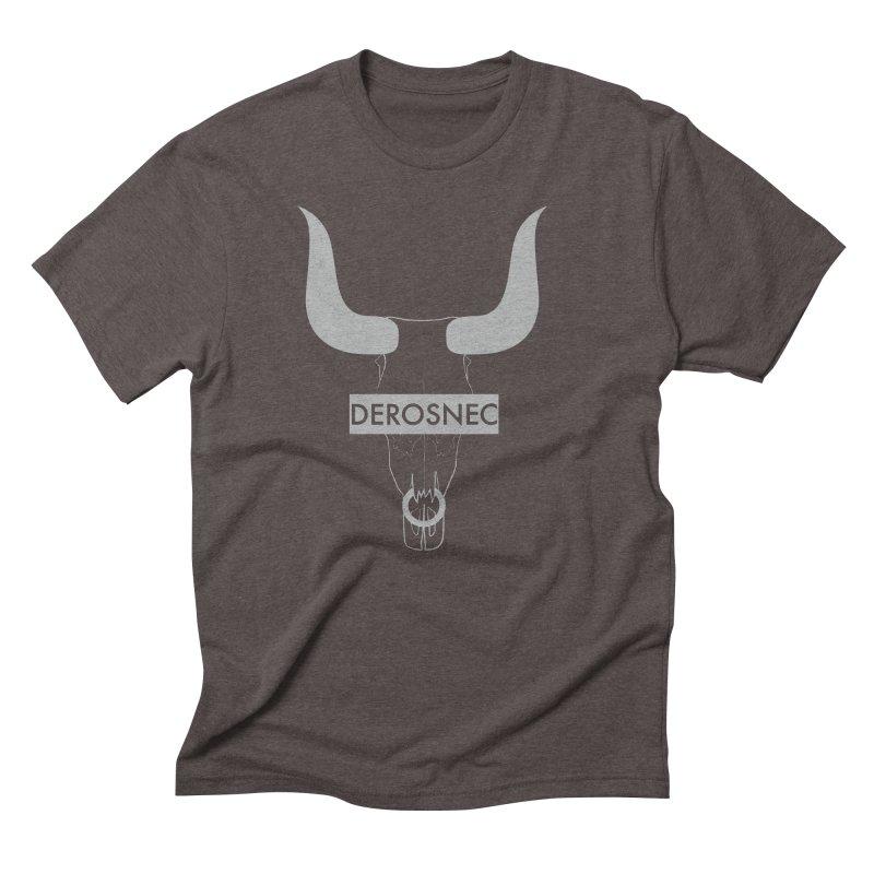DEROSNEC - Bullheaded Men's Triblend T-Shirt by Oh Just Peachy Studios Music Store
