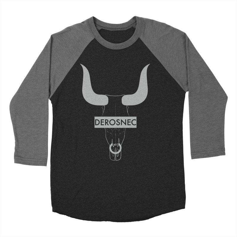 DEROSNEC - Bullheaded Men's Baseball Triblend T-Shirt by Oh Just Peachy Studios Music Store