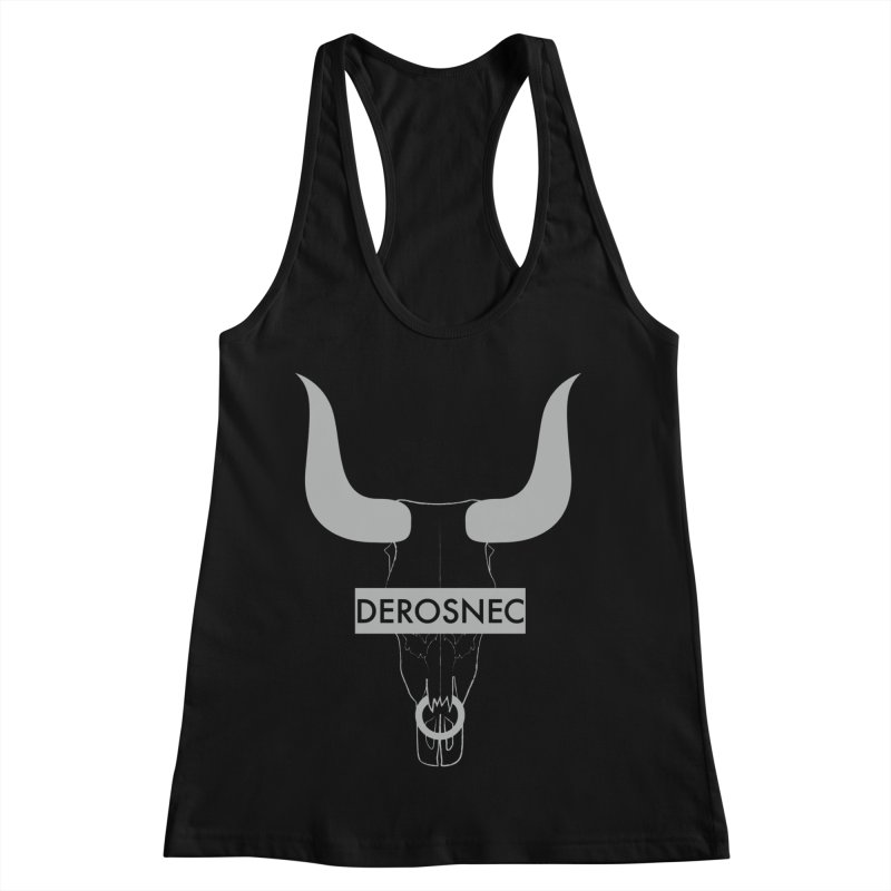 DEROSNEC - Bullheaded Women's Racerback Tank by Oh Just Peachy Studios Music Store
