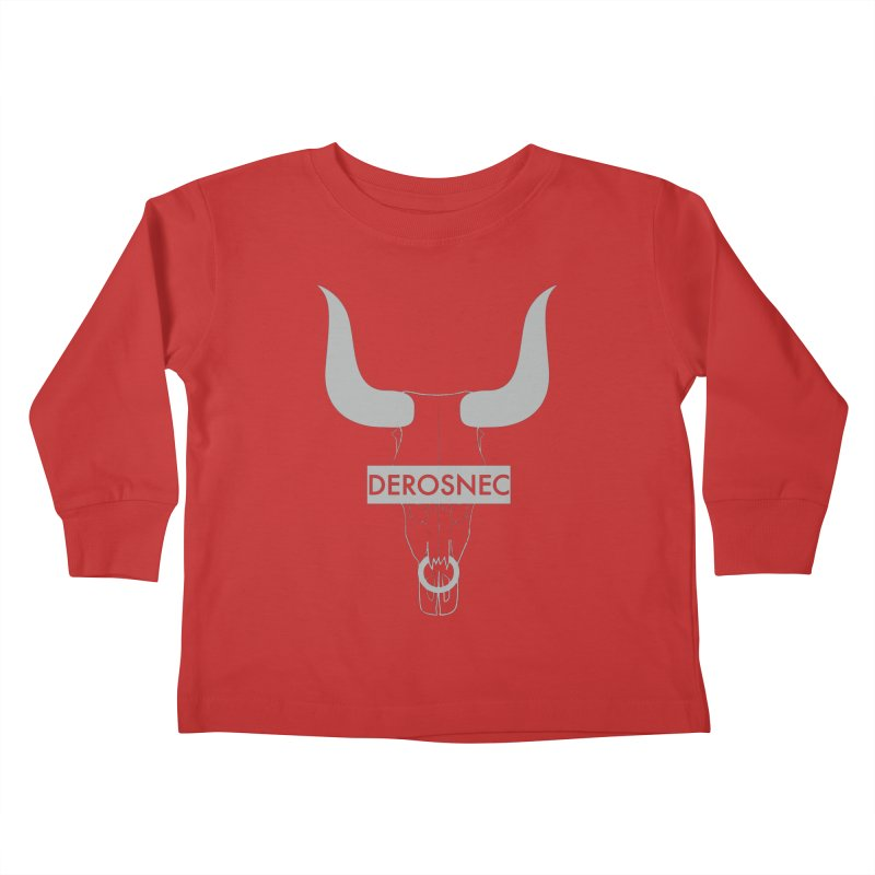 DEROSNEC - Bullheaded Kids Toddler Longsleeve T-Shirt by Oh Just Peachy Studios Music Store